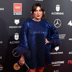 Candela Peña en la alfombra roja de los Premios Feroz 2020