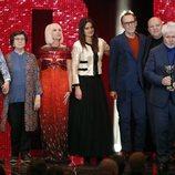 El equipo de Dolor y gloria en los Premios Feroz 2020