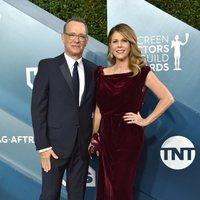 Tom Hanks y Rita Wilson en la alfombra roja de los SAG Awards 2020
