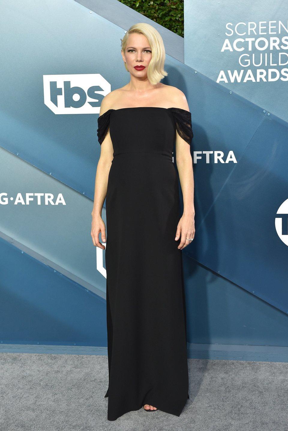 Michelle Williams en la alfombra roja de los SAG Awards 2020