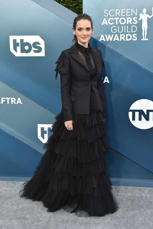Winona Ryder en la alfombra roja de los SAG Awards 2020