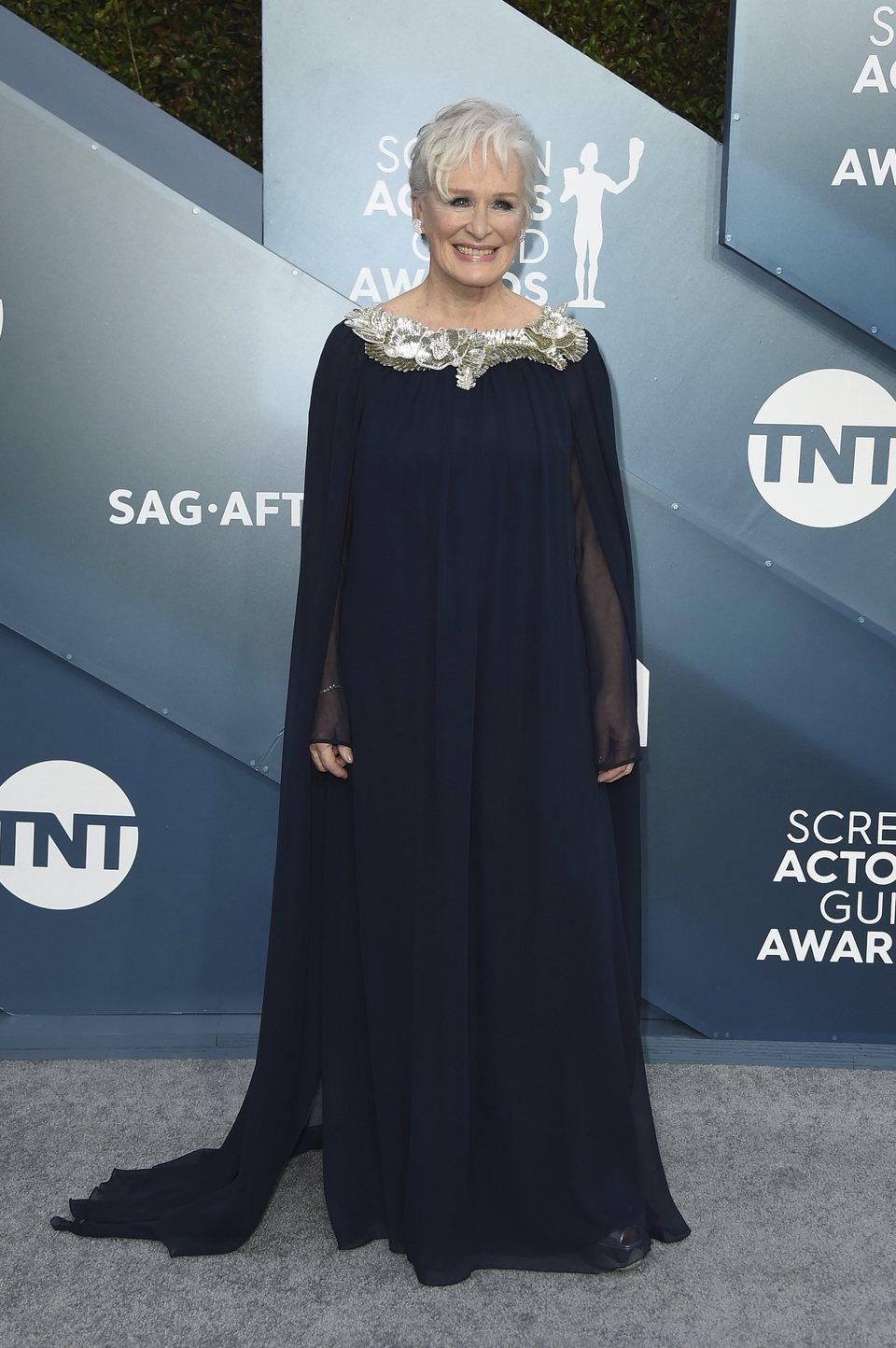 Glenn Close en la alfombra roja de los SAG Awards 2020