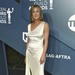 Jennifer Aniston en la alfombra roja de los SAG Awards 2020