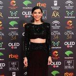Irene Visedo en la alfombra roja de los Premios Goya 2020
