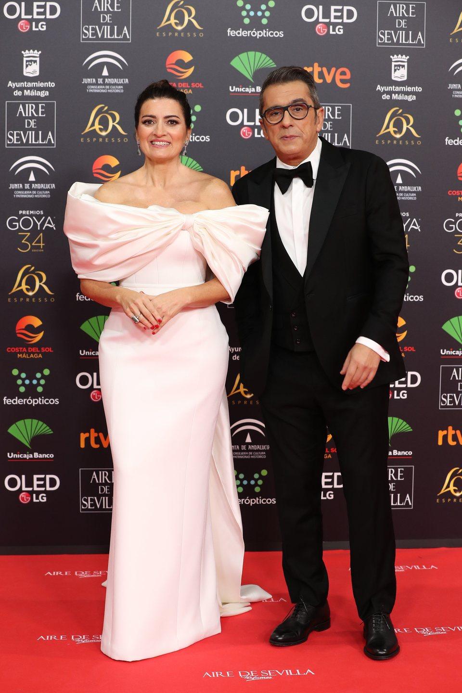 Andreu Buenafuente y Silvia Abril en la alfombra roja de los Goya 2020