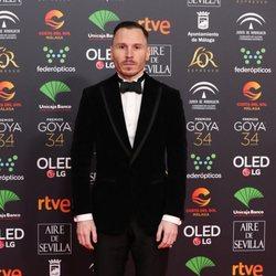 Ruben Ochandiano en la alfombra roja de los Premios Goya 2020