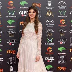 Carmen Arrufat en la alfombra roja de los Goya 2020
