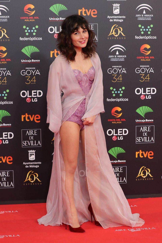 Nadia de Santiago en la alfombra roja de los Premios Goya 2020