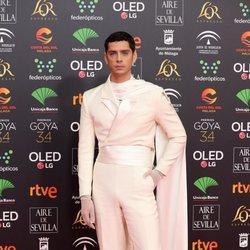 Eduardo Casanova en la alfombra de los Premios Goya 2020