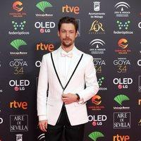 Jan Cornet en la alfombra roja de los Premios Goya 2020