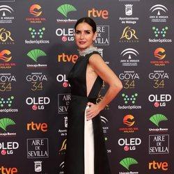 Belen Lopez en la alfombra roja de los Premios Goya 2020