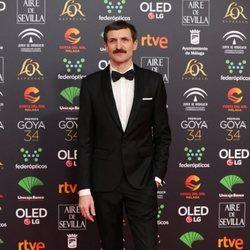 Julian Villagran en la alfombra roja de los Goya 2020