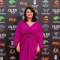 Adelfa Calvo en la alfombra roja de los Premios Goya 2020