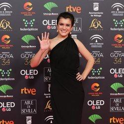 Amaia en la alfombra roja de los Premios Goya 2020