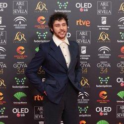 Alex de Lucas en la alfombra roja de los Premios Goya 2020
