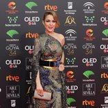 Silvia Abascal en la alfombra roja de los Goya 2020