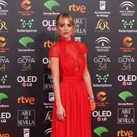 Ana Fernández en la alfombra roja de los Premios Goya 2020