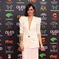 Ana Turpin en la alfombra roja de los Premios Goya 2020