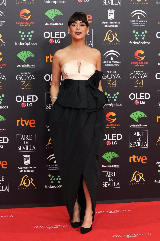 Belén Cuesta en la alfombra roja de los Goya 2020