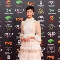 Greta Fernández en la alfombra roja de los Premios Goya 2020