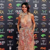 La actriz Goya Toledo posa sobre la alfombra roja de los Premios Goya 2020