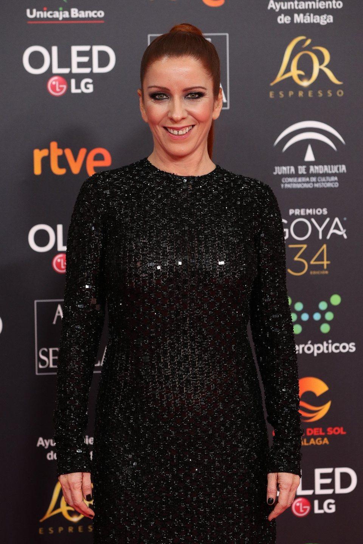 Eva Llorach en la alfombra roja de los Premios Goya 2020