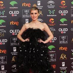 Natalia de Molina en la alfombra roja de los Goya 2020