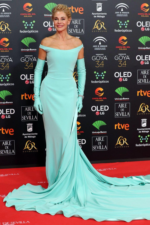 Belén Rueda en la alfombra roja de los Premios Goya 2020
