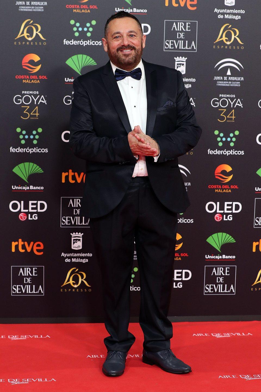 Pepón Nieto en la alfombra roja de los Premios Goya 2020