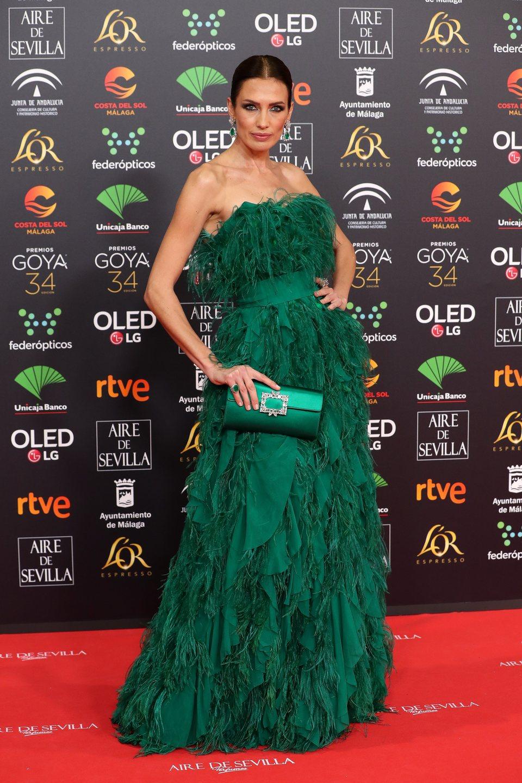 Nieves Álvarez en la alfombra roja de los Premios Goya 2020