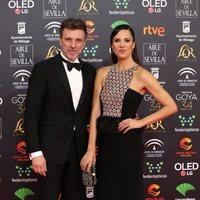 Armando del Río y Laila Alemany en la alfombra roja de los Premios Goya 2020