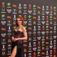 Cristina Castaño en la alfombra roja de los Premios Goya 2020
