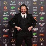 Asier Etxeandia en la alfombra roja de los Premios Goya 2020