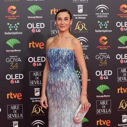 Mona Martínez en la alfombra roja de los Premios Goya 2020