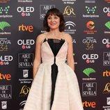 Pilar Gómez en la alfombra roja de los Premios Goya 2020