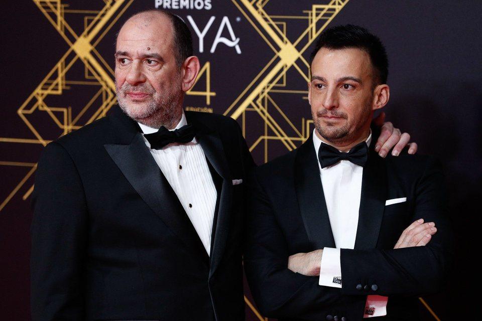 Alejandro Amenábar y Karra Elejalde en la alfombra roja de los premios Goya 2020
