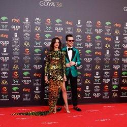 Macarena Gómez y Aldo Comas en la alfombra roja de los Premios Goya 2020