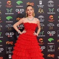 Ester Expósito en la alfombra roja de los Premios Goya 2020