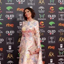 Maria Barranco en la alfombra roja de los Premios Goya 2020