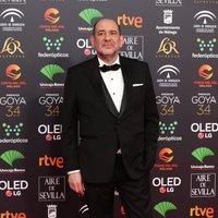 Karra Elejalde en la alfombra roja de los Premios Goya 2020