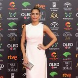 Toni Acosta en la alfombra roja de los Premios Goya 2020