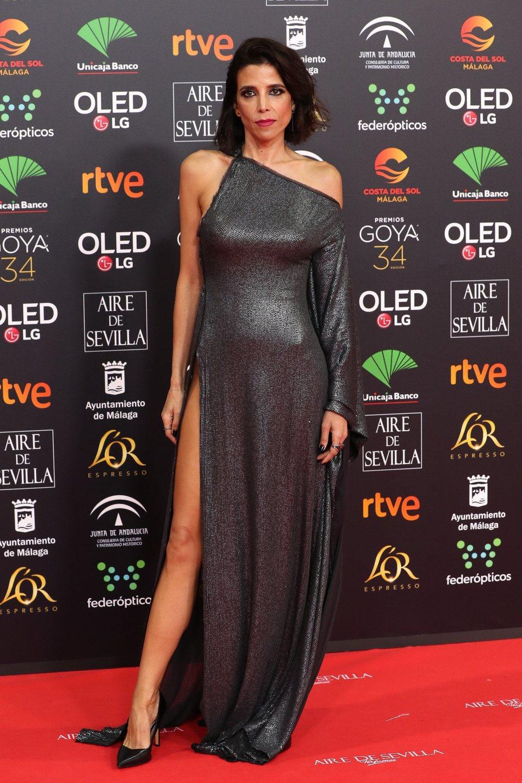 María Luisa Mayol en la alfombra roja de los Premios Goya 2020