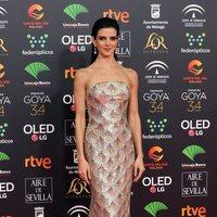 Clara Lago en la alfombra roja de los Goya 2020
