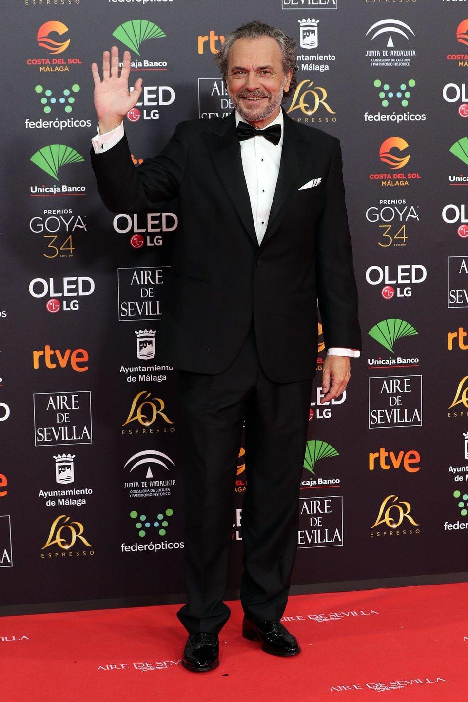 José Coronado en la alfombra roja de los Premios Goya 2020