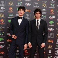 Los Javis en la alfombra roja de los Premios Goya 2020