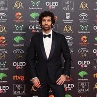 Tamar Novas en la alfombra roja de los Premios Goya 2020