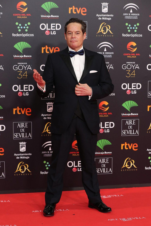 Jorge Sanz en la alfombra roja de los Premios Goya 2020