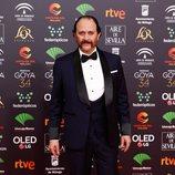 Luis Callejo en la alfombra roja de los Premios Goya 2020