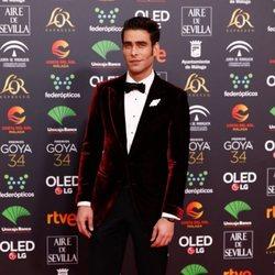 Jon Kortajarena en la alfombra roja de los Premios Goya 2020