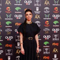 Maribel Verdú en la alfombra roja de los Premios Goya 2020